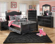 Jaidyn Black Full Poster Bed | Ashley Furniture | ASB150-8NX