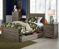 Javarin Panel Bed with Trundle Twin Size | Ashley Furniture | ASB171-525382T