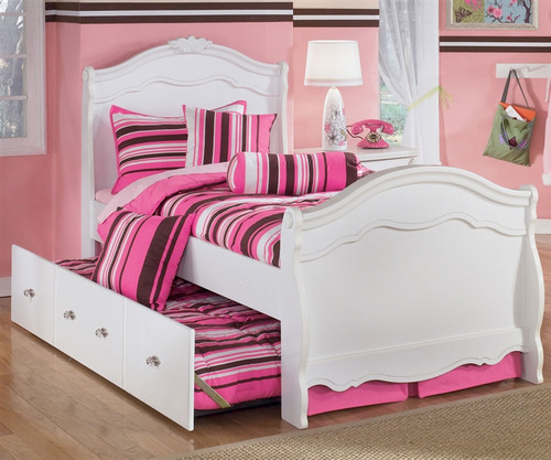 Exquisite Twin Sleigh Bed And Trundle | Ashley Furniture | ASB188 626350B