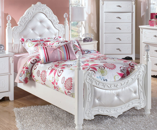 Exquisite Twin Size Poster Bed | Ashley Furniture | ASB188 71