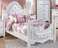 CLEARANCE Twin Size Poster Bed with Trundle | Ashley Furniture | ASB188-715082