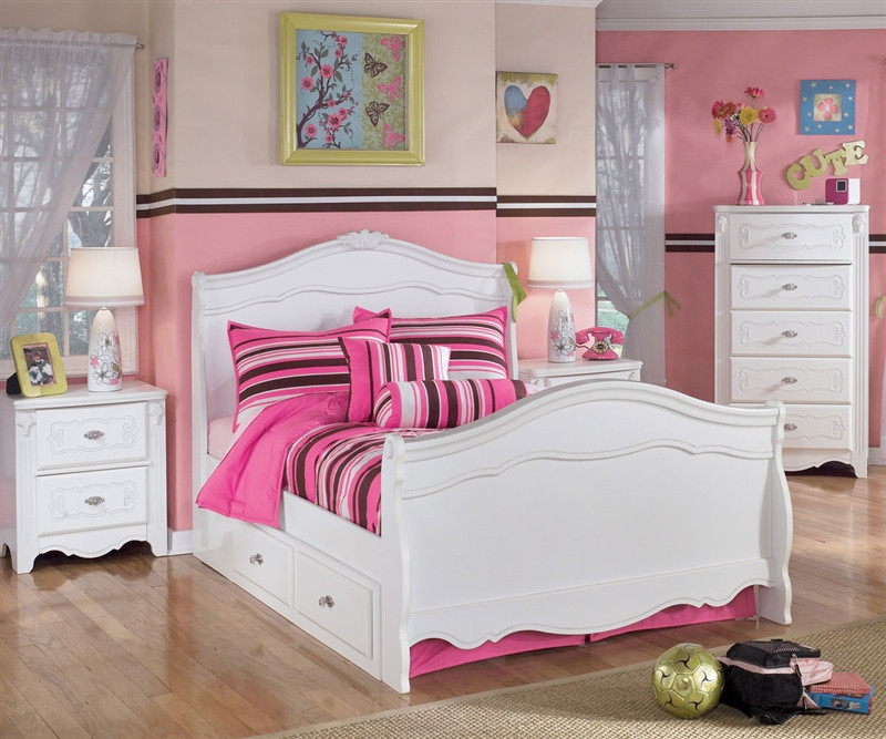 Ashley Furniture Exquisite Trundle Sleigh Bed