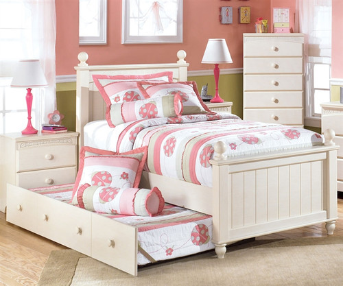 Cottage Retreat Twin Poster Bed With Trundle | Ashley Furniture |  ASB213 52NX50