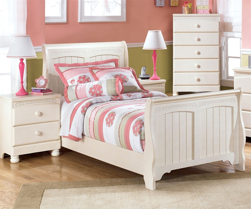 Ashley furniture cottage retreat twin sleigh bed kids cottage retreat twin sleigh bed in cream Cottage retreat collection bedroom furniture