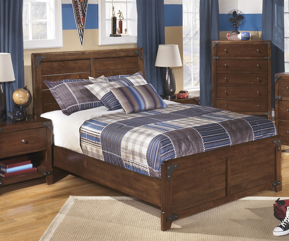 home bedroom sets boys full bedrooms delburne panel bed full size