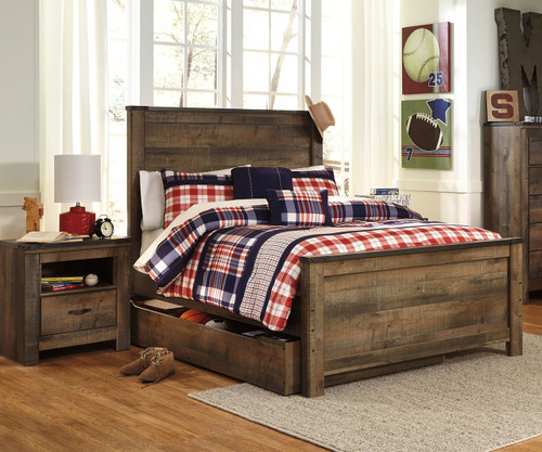 Trinell B446 Full Size Panel Bed With Trundle Ashley