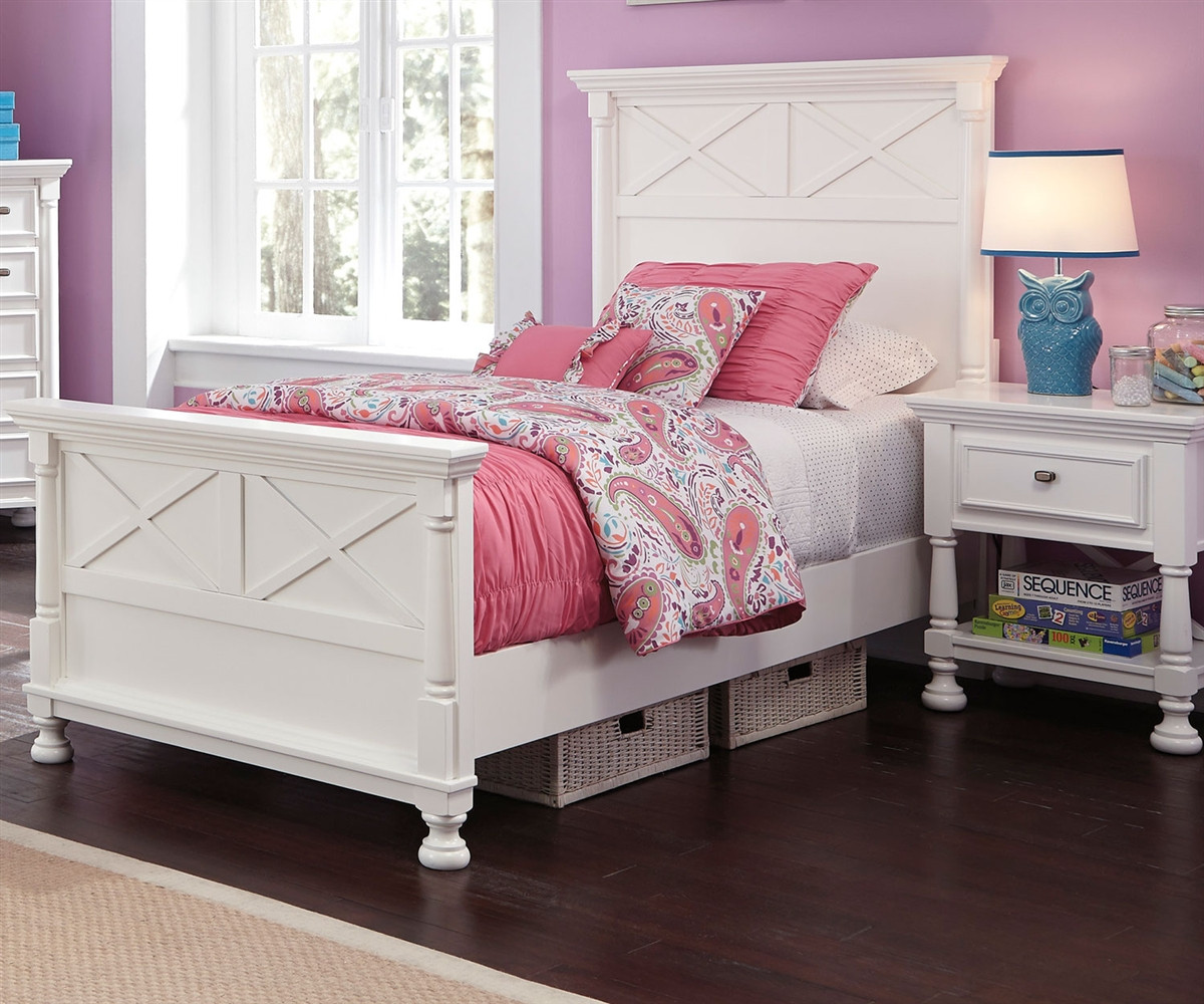 Kaslyn B502 Twin Size Panel Bed Girl 39 S Beds In White Ashley Kids Furniture