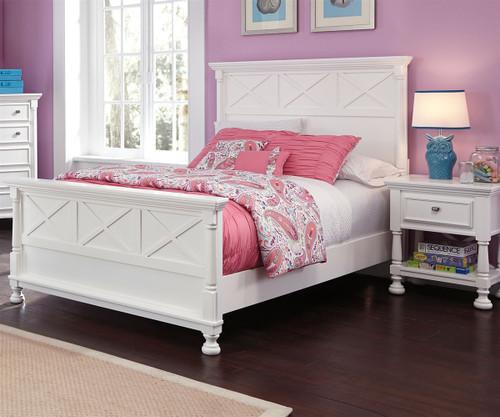 Kaslyn B502 Full Size Panel Bed Girls Full beds in white Ashley