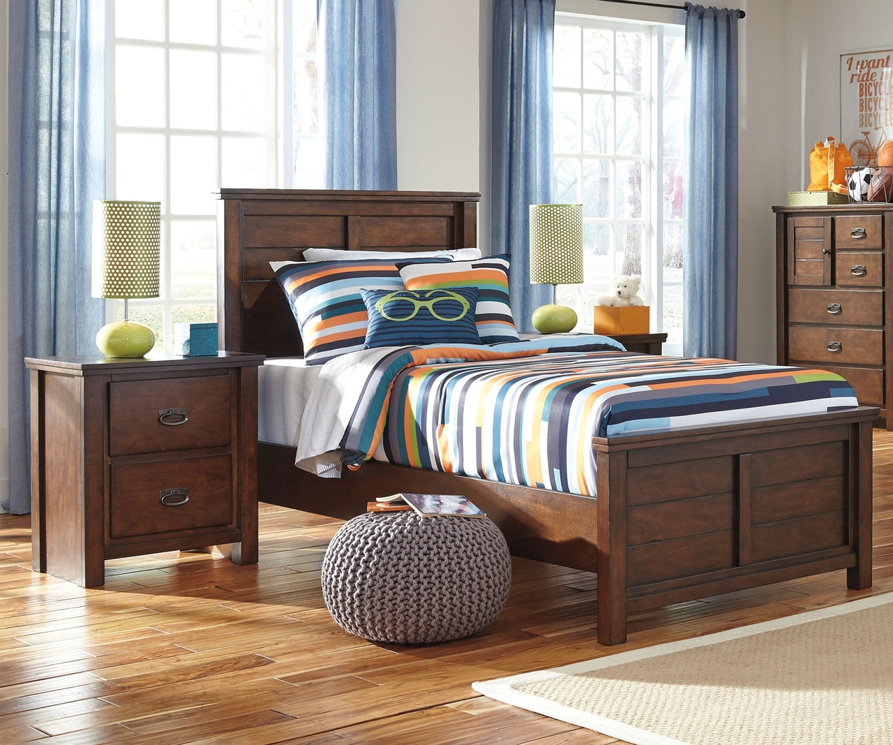 Ladiville B567 Panel Bed Twin Size