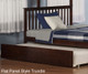Woodland Stair Bunk Bed Full over Full Antique Walnut | Atlantic Furniture | ATL-AB56804