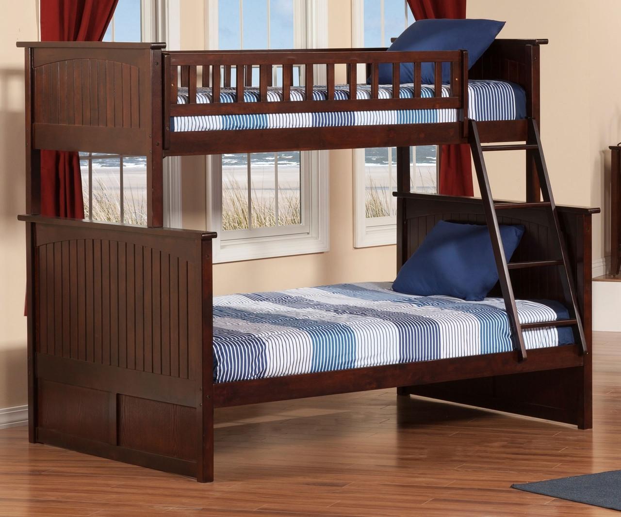nantucket twin over full bunk bed ab59204 atlantic furniture solid wood bedroom furniture in. Black Bedroom Furniture Sets. Home Design Ideas