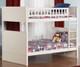 Nantucket Bunk Bed Full over Full White | Atlantic Furniture | ATL-AB59502