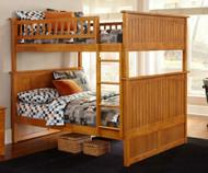 Nantucket Bunk Bed Full over Full Caramel Latte | Atlantic Furniture | ATL-AB59507