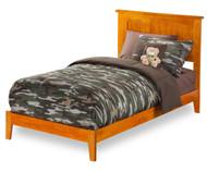 Urban Lifestyle Nantucket Platform Bed Twin Size Caramel Latte | Atlantic Furniture | ATL-AR8221007