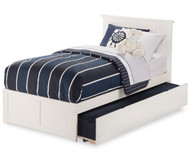 Urban Lifestyle Nantucket Platform Bed with Trundle Twin Size White   Atlantic Furniture   ATL-AR8222012