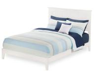 Urban Lifestyle Nantucket Platform Bed Full Size White   Atlantic Furniture   ATL-AR8231002