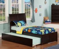 Urban Lifestyle Portland Platform Bed with Trundle Twin Size Espresso   Atlantic Furniture   ATL-AR8922011
