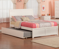 Urban Lifestyle Portland Platform Bed with Trundle Full Size White | Atlantic Furniture | ATL-AR8932012
