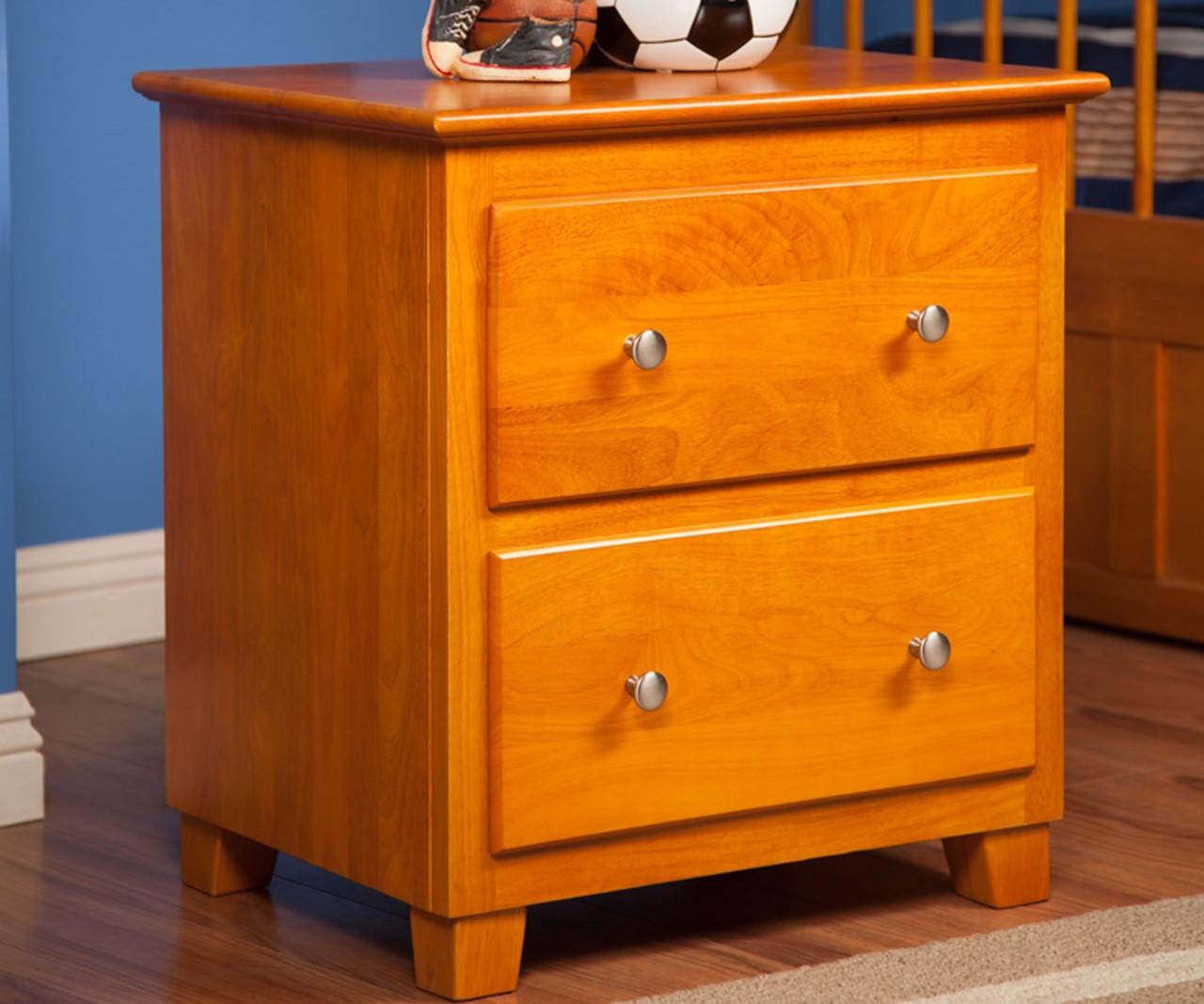 Atlantic Nightstand C 68207 Atlantic Furniture Caramel