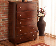 Atlantic 5 Drawer Chest Antique Walnut | Atlantic Furniture | ATL-C-68404