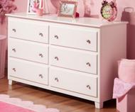 Atlantic 6 Drawer Dresser White | Atlantic Furniture | ATL-C-68652