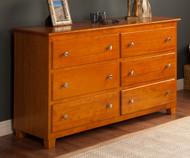 Atlantic 6 Drawer Dresser Caramel Latte | Atlantic Furniture | ATL-C-68657