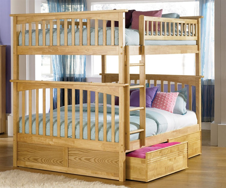 Atlantic Furniture Columbia Model Full Size Bunk Bed Kids Bedroom