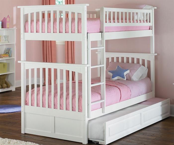 Atlantic Furniture Columbia Model Twin Twinwhite Bunk Bed Kids