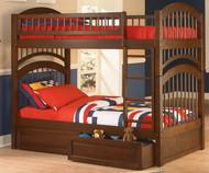Windsor Bunk Bed Antique Walnut | Atlantic Furniture | ATLWIN-AW