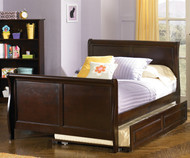 Windsor Full Size Sleigh Bed with Trundle | Atlantic Furniture | ATLWIN-SLFTR-AW