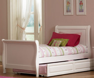 Windsor Sleigh Bed with Trundle | Atlantic Furniture | ATLWIN-SLTR-WH
