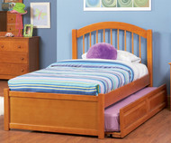 Windsor Twin Size Trundle Bed Caramel Latte | Atlantic Furniture | ATLWIN-TRT-CL