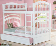 Windsor Bunk Bed White | Atlantic Furniture | ATLWIN-WH