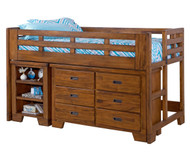 Heartland Low Loft Bed with Dresser | American Woodcrafters | AW1800-LLD