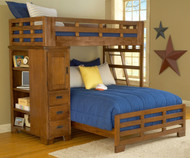Heartland Twin over Full Loft Bed | American Woodcrafters | AW1800-TFLB