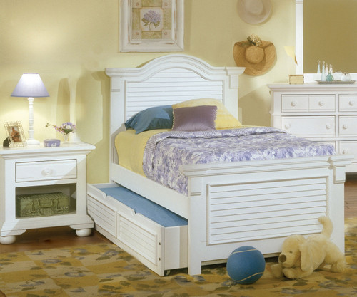 Cottage Traditions Twin Size Panel Bed 6510 33pan American