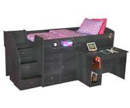 Sierra Captain's Bed with Hideaway Desk 2 | Berg Furniture | BG22-721-XXX