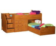 New Sierra Captain's Bed For Two | Berg Furniture | BG22-741