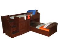 New Sierra Captain's Bed For Two 1 | Berg Furniture | BG22-741-XX