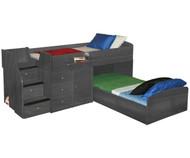 New Sierra Captain's Bed For Two 2 | Berg Furniture | BG22-741-XXX