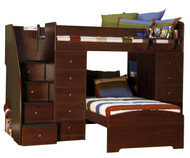 Twin over Twin Space Saver with Two Chests and Stairs 1 | Berg Furniture | BG22-807-X