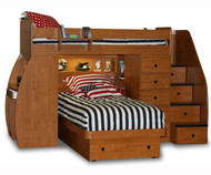 Twin over Twin Space Saver with Desk, Chest and Platform Bed | Berg Furniture | BG22-825