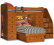 Twin over Twin Space Saver with 2 Chest and Platform Bed | Berg Furniture | BG22-827