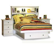 Bookcase Platform Bed Full Size | Berg Furniture | BG22-87-XX