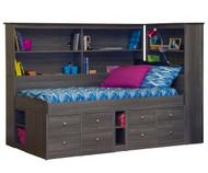 Junior Bookcase Captain's Bed | Berg Furniture | BG22-950-XX