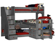 Trifecta Loft Bunk Bed 1 | Berg Furniture | BG23-777-XXX