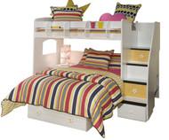 Utica Twin over Full Loft Bed 1 | Berg Furniture | BG23-815b