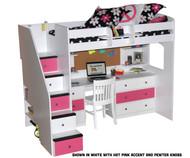 Utica Dorm Loft Bed with Workstation 1 | Berg Furniture | BG23-835-83AB2