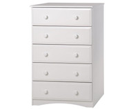 Camaflexi 5 Drawer Chest White | Camaflexi Furniture | CF-4153