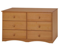 Camaflexi 6 Drawer Dresser Natural | Camaflexi Furniture | CF-4161